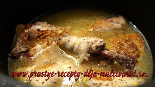 Курица в мультиварке пошаговые рецепты с фото