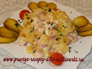 Картофель под шубой рецепт