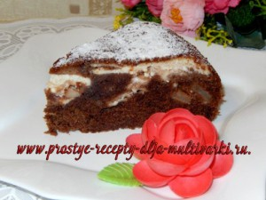 Пирог с творожно-яблочной начинкой