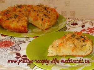 Пирог с квашеной капустой в мультиварке