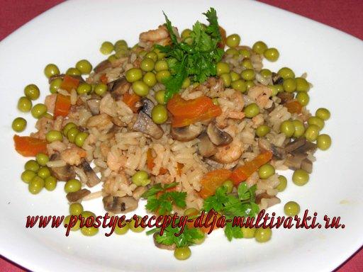 Рис с креветками в мультиварке