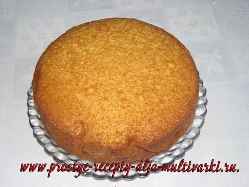 Рецепт пышного бисквита в мультиварке пошагово