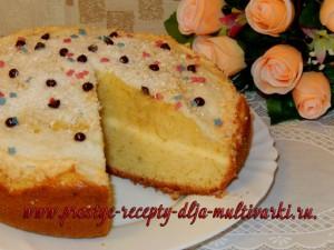 Пирог с безе в мультиварке