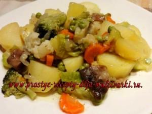 Постное блюдо из овощей