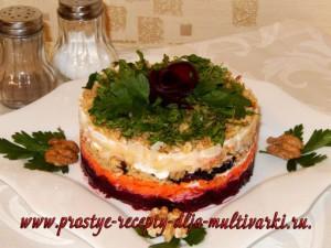 Овощной салат с орехами