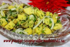 Салат с вареной картошкой