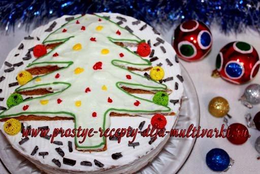 Новогодний торт в мультиварке