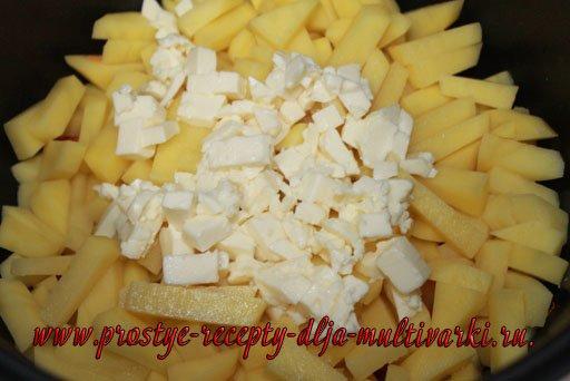 Сырный суп в мультиварке