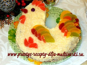 Торт на год петуха