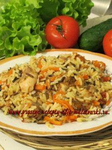 Плов из смеси риса в мультиварке