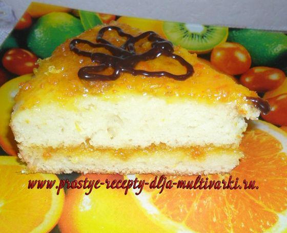 Мандариново-лимонный торт в мультиварке