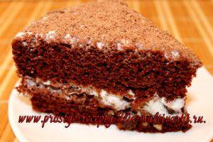 Шоколадный торт с черносливом в мультиварке