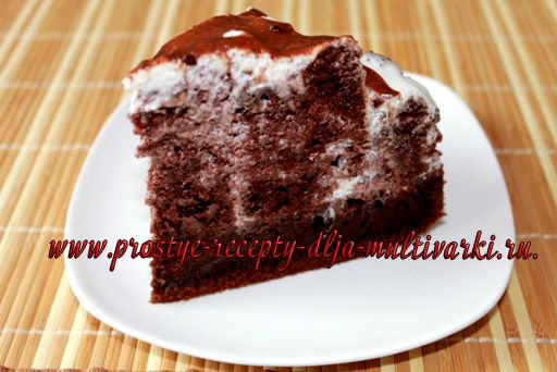 Торт «Шоколад на кипятке» в мультиварке