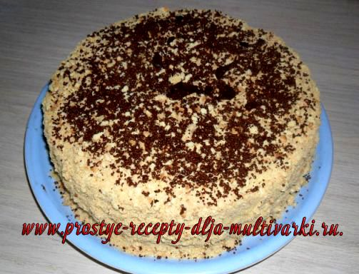 Торт «Халвинка» в мультиварке