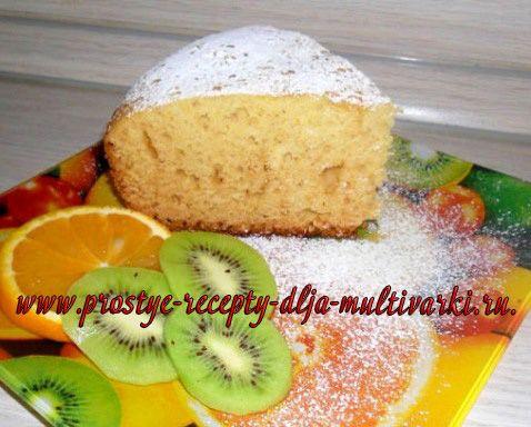 Рецепт медово-апельсинового пирога в мультиварке