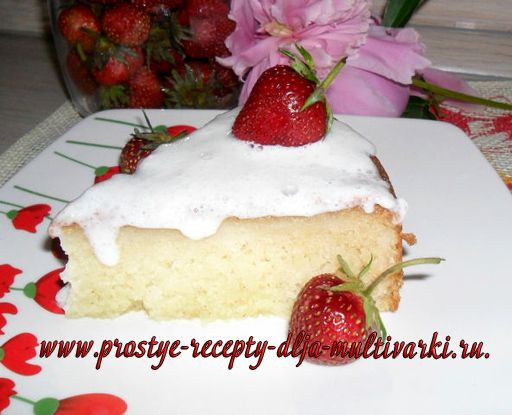 Рецепт пирога из творожной массы и манки в мультиварке