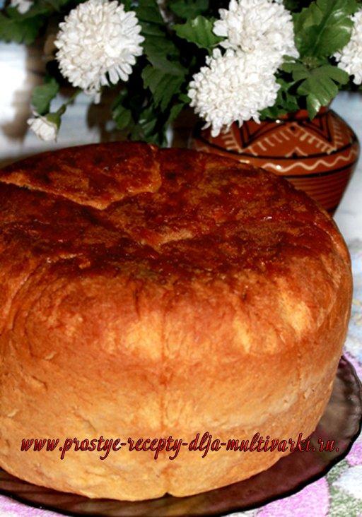 сдобный хлеб в мультиварке