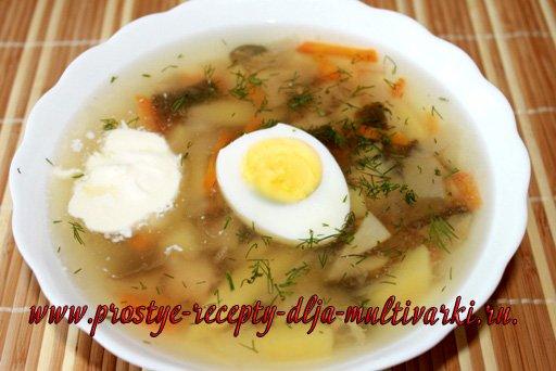 приготовить грибной суп в мультиварке