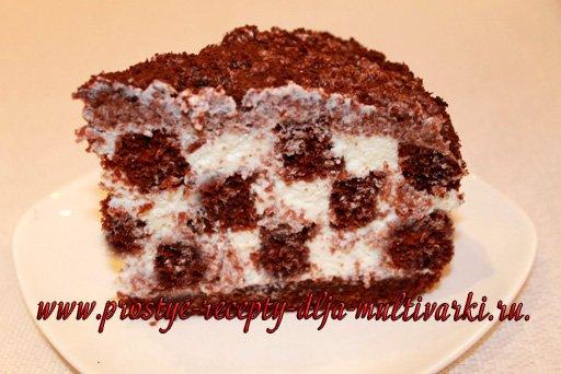 Шахматный торт в мультиварке-скороварке