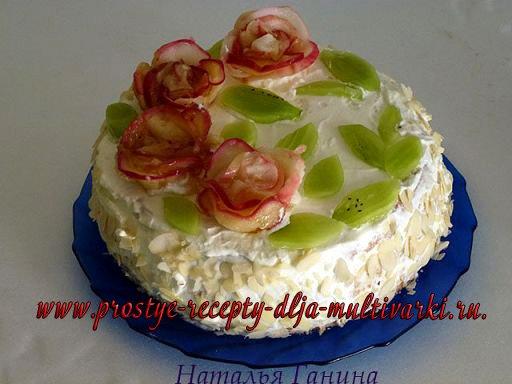 рецепт бисквитного торта в мультиварке