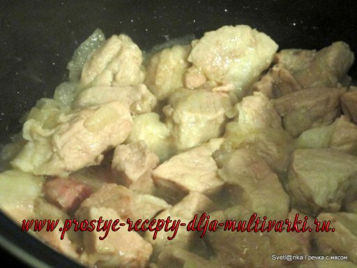 Гречка с мясом в мультиварке Редмонд
