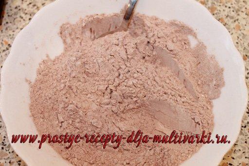 Шоколадная ватрушка в мультиварке