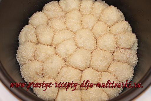 Хлеб с кунжутом в мультиварке - рецепт пошаговый с фото