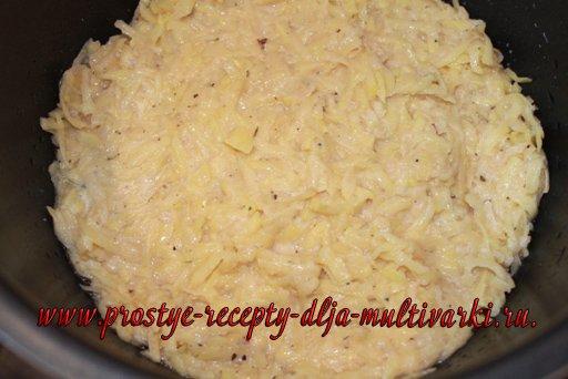 Картофельная запеканка в мультиварке-скороварке