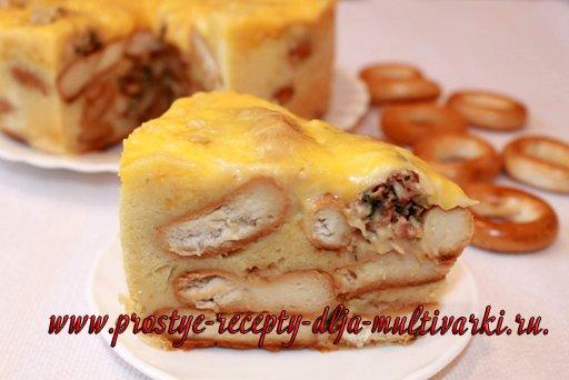 Пирог из баранок в мультиварке