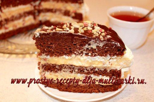 Торт «Сникерс» в мультиварке