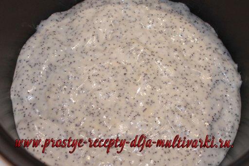 Маковый бисквит в мультиварке