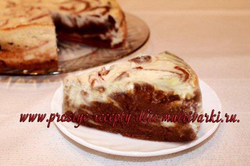 шоколадно-творожный торт в мультиварке