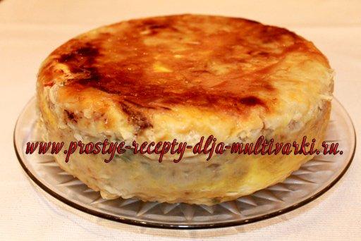 Пирог из лаваша в мультиварке