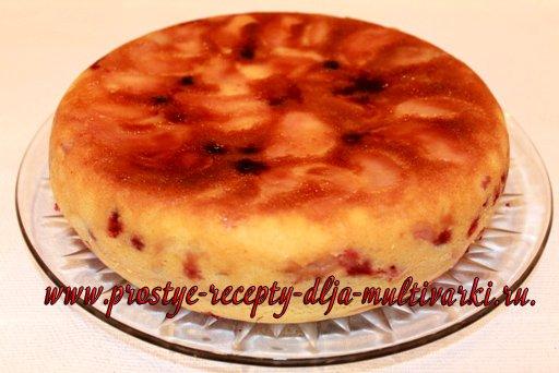 Пирог с клюквой в мультиварке