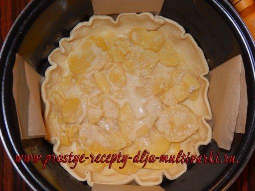 Пирог из слоеного теста