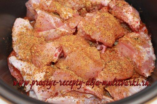 Тушеная курица в мультиварке