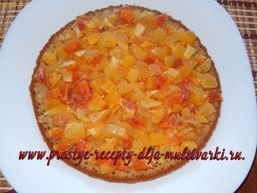 Праздничный цитрусовый торт