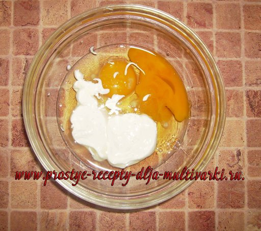 Омлет с сыром в мультиварке