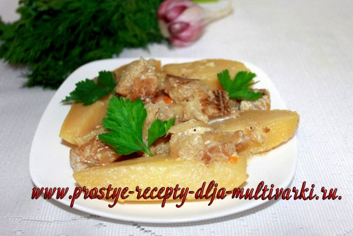 Рыба с картошкой в мультиварке-скороварке