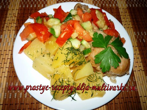 Как приготовить курицу с картофелем в мультиварке