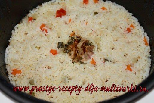 Рис в мультиварке с овощами