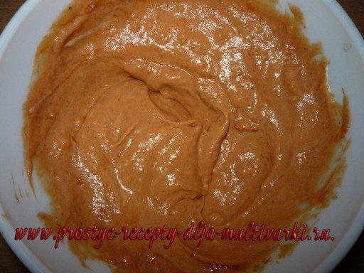 Минтай в томатно-сметанном соусе в мультиварке