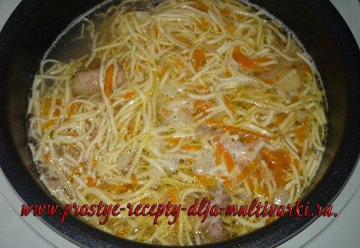 Куриный суп-лапша в мультиварке