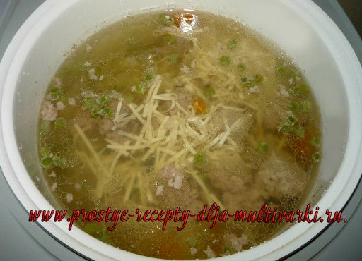 Суп с фаршем в мультиварке рецепт