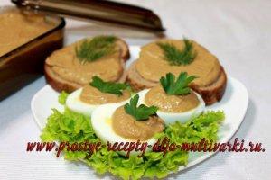 Рецепт куриного паштета из печени