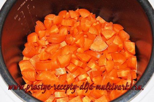 Овощное пюре с мясом из мультиварки