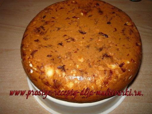 Пирог с копченой грудкой в мультиварке