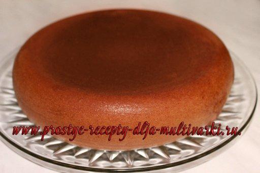 Торт «Сердце» из ванильного бисквита в мультиварке