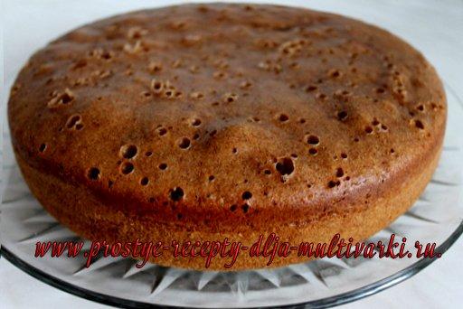 Быстрый шоколадный кекс в мультиварке. Рецепт с фото.