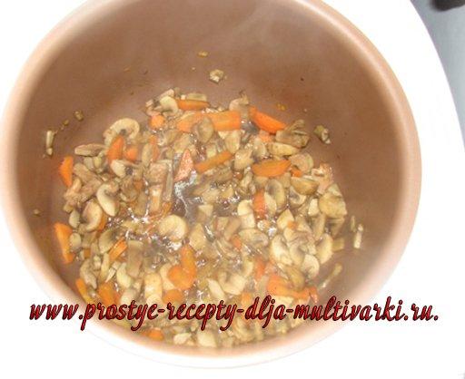 Рис с грибами и креветками рецепт с фото